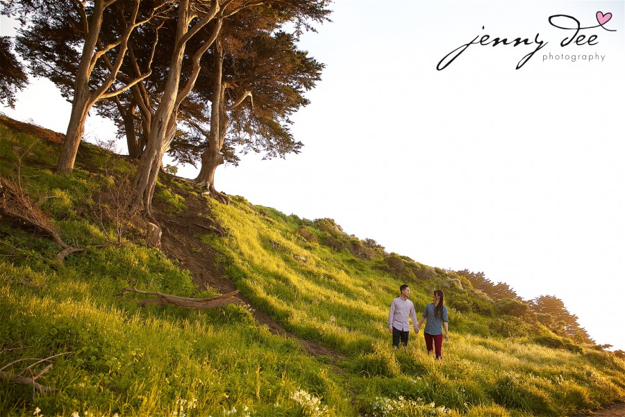 Engagement at Point Lobos and Sutro Bathhouse in San Francisco 10