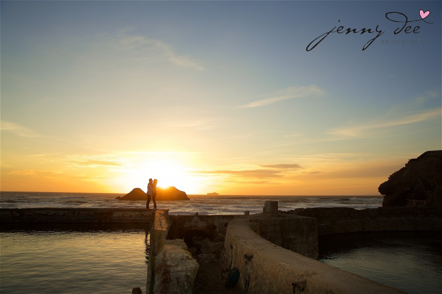 Engagement at Point Lobos and Sutro Bathhouse in San Francisco 11