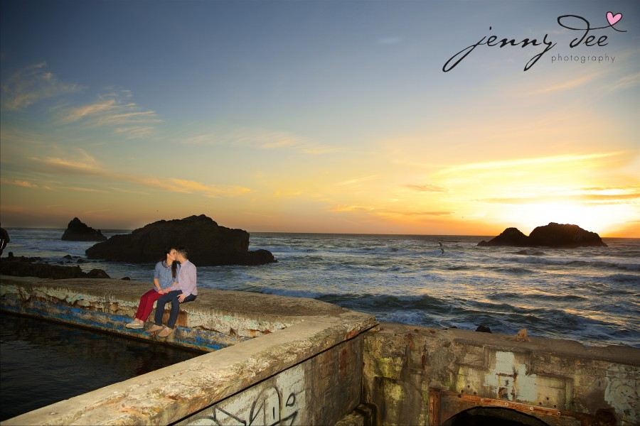Engagement at Point Lobos and Sutro Bathhouse in San Francisco 13