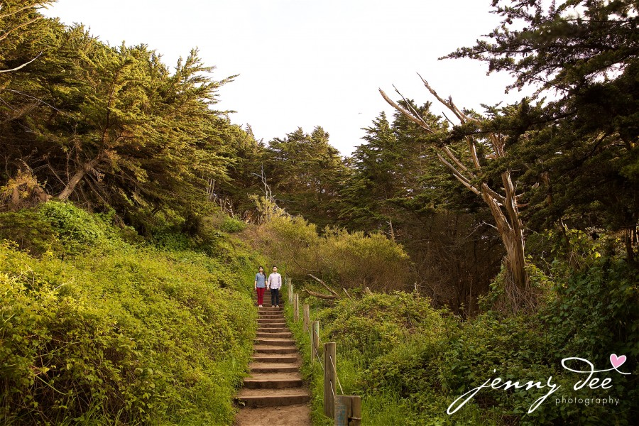 Engagement at Point Lobos and Sutro Bathhouse in San Francisco 8
