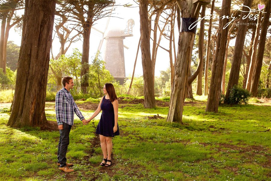 Tracy and Nathan's engagement shoot at Golden Gate park 1