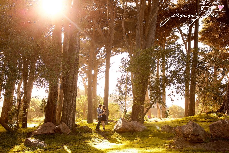 Tracy and Nathan's engagement shoot at Golden Gate park 5