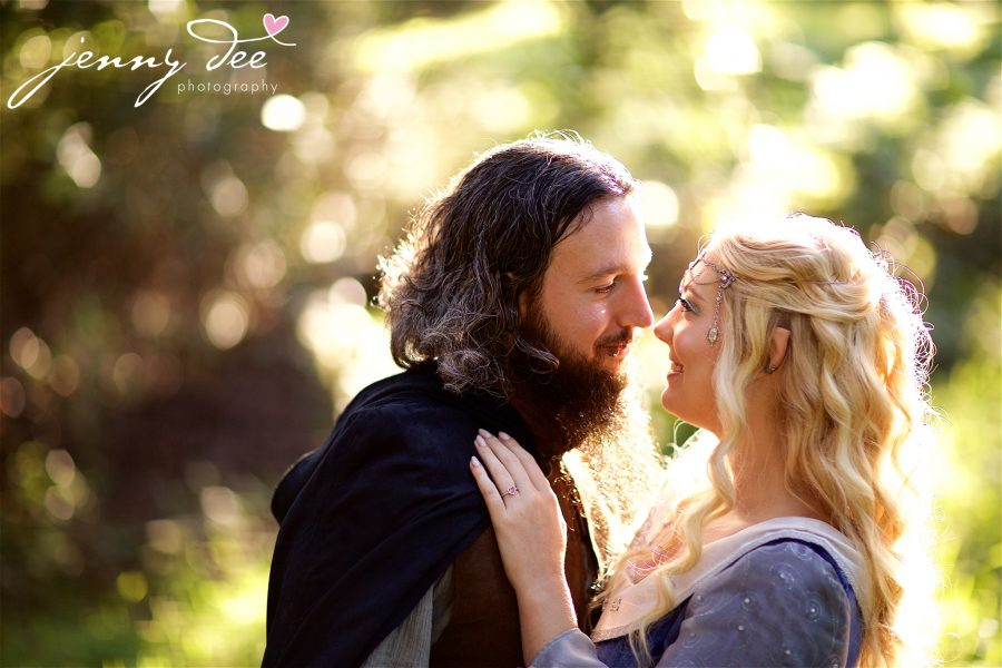 Kellie and Andy's Lord of the Rings themed Engagement photos at Roberts Regional Recreation Area in Redwood Regional in Oakland 1