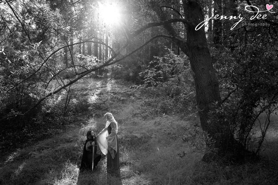 Kellie and Andy's Lord of the Rings themed Engagement photos at Roberts Regional Recreation Area in Redwood Regional in Oakland 12