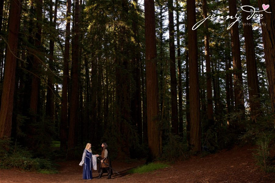 Kellie and Andy's Lord of the Rings themed Engagement photos at Roberts Regional Recreation Area in Redwood Regional in Oakland 13