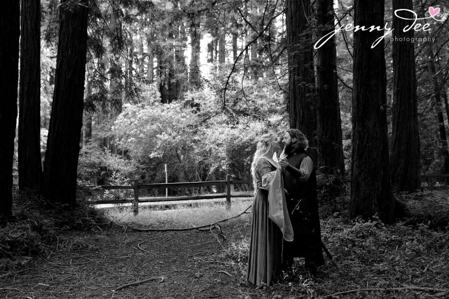 Kellie and Andy's Lord of the Rings themed Engagement photos at Roberts Regional Recreation Area in Redwood Regional in Oakland 16