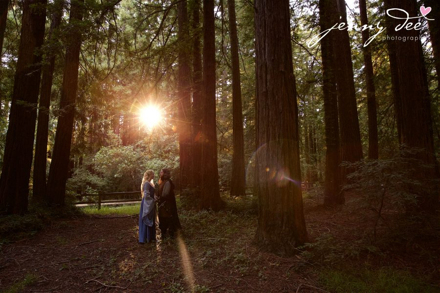 Kellie and Andy's Lord of the Rings themed Engagement photos at Roberts Regional Recreation Area in Redwood Regional in Oakland 17