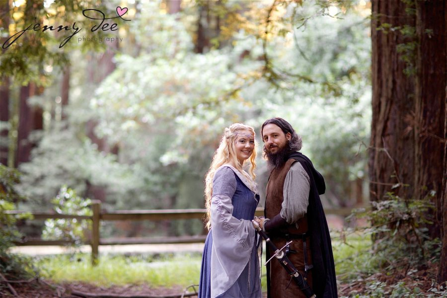Kellie and Andy's Lord of the Rings themed Engagement photos at Roberts Regional Recreation Area in Redwood Regional in Oakland 18