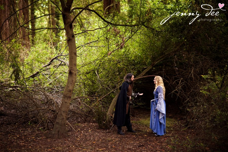 Kellie and Andy's Lord of the Rings themed Engagement photos at Roberts Regional Recreation Area in Redwood Regional in Oakland 20