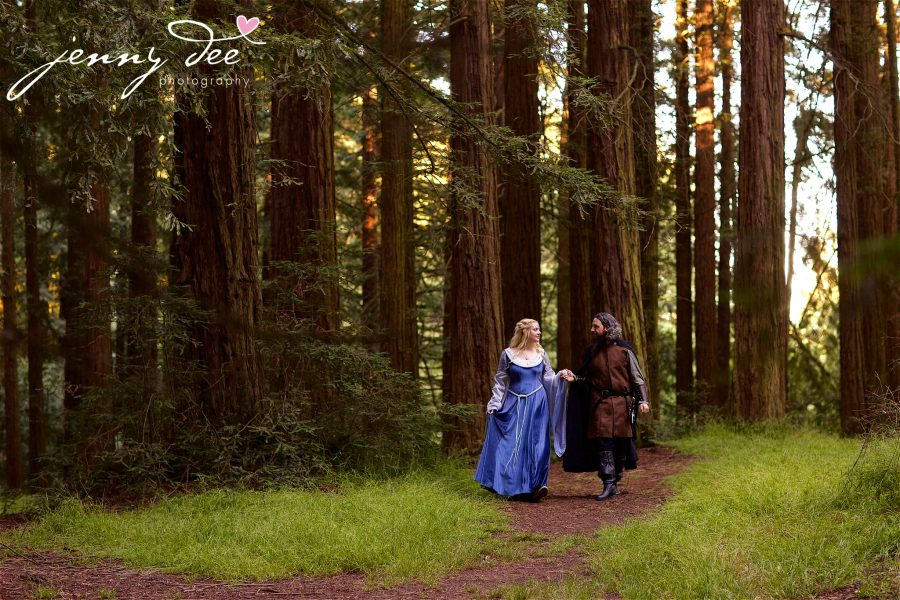 Kellie and Andy's Lord of the Rings themed Engagement photos at Roberts Regional Recreation Area in Redwood Regional in Oakland 23