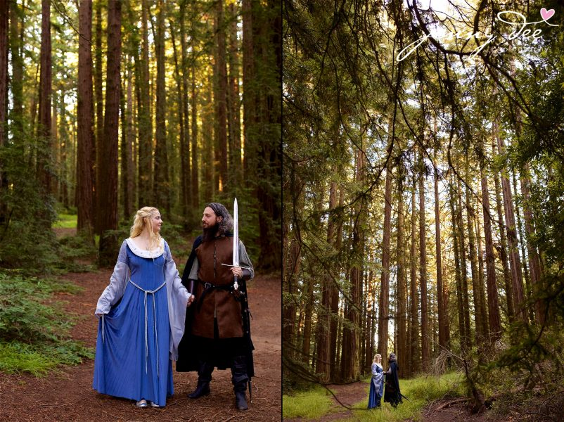 Kellie and Andy's Lord of the Rings themed Engagement photos at Roberts Regional Recreation Area in Redwood Regional in Oakland 25