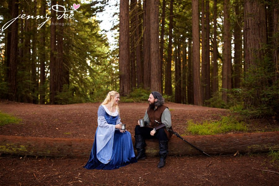Kellie and Andy's Lord of the Rings themed Engagement photos at Roberts Regional Recreation Area in Redwood Regional in Oakland 27