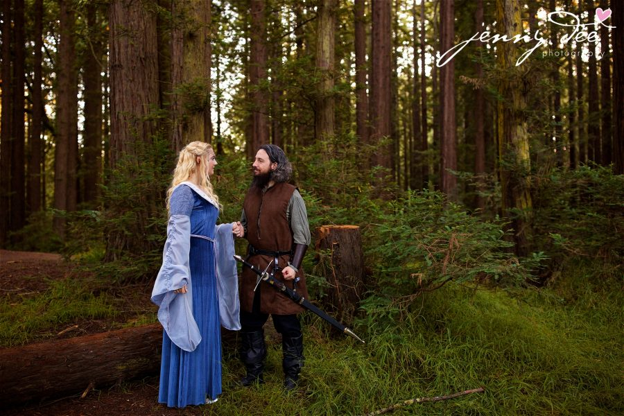 Kellie and Andy's Lord of the Rings themed Engagement photos at Roberts Regional Recreation Area in Redwood Regional in Oakland 28