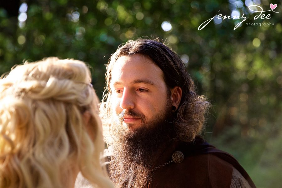 Kellie and Andy's Lord of the Rings themed Engagement photos at Roberts Regional Recreation Area in Redwood Regional in Oakland 4