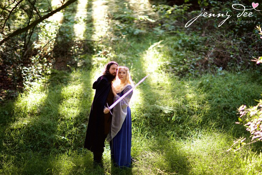 Kellie and Andy's Lord of the Rings themed Engagement photos at Roberts Regional Recreation Area in Redwood Regional in Oakland 6