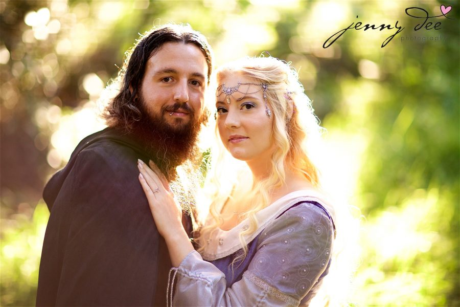 Kellie and Andy's Lord of the Rings themed Engagement photos at Roberts Regional Recreation Area in Redwood Regional in Oakland 7